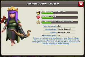 Clash of Clans Archer Queen Fact