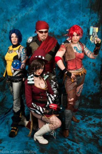Our group from left to right: Mya, Mordecai, Moxxi, Lilith.