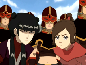 Ty Lee: Nice speech Azula. It was pretty and poetic, but also scary in a good way. Mai: Yeah, I thought you were gonna make that one guy pee his pants.