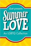 Cover of Summer Love, with title in white letters on blue and yellow background