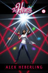 Cover of Volume 1 of The Hues, featuring protagonist Samhita and a blaze of magical light against a black background of many colored lights