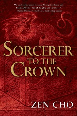 Image of Sorcerer to the Crown cover, showing a chest and fairy familiar
